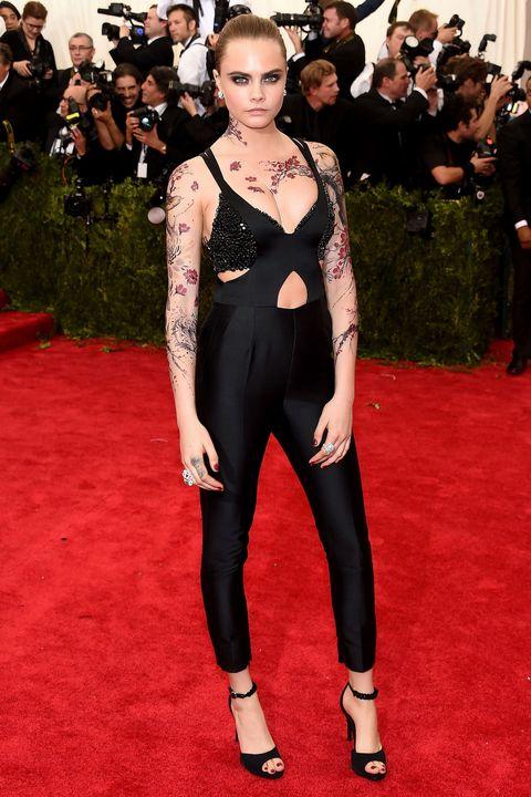 Cara Delevingne S Elaborate Sprawling Met Gala Tattoo Was Fake
