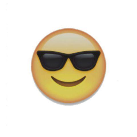 Eyewear, Yellow, Emoticon, Smiley, Facial expression, Amber, Orange, Eye glass accessory, Circle, Symbol,