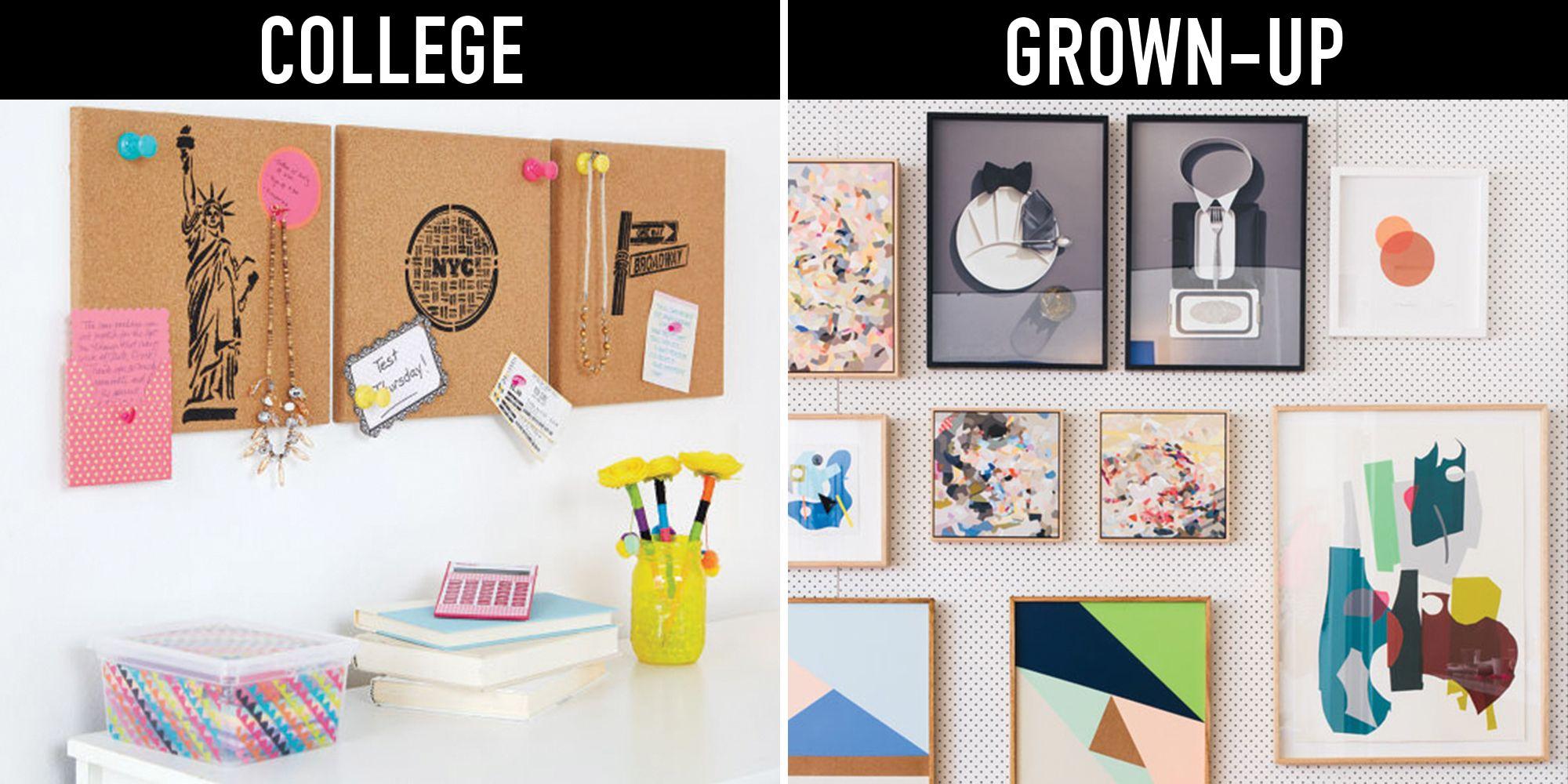 13 ways you u0027re decorating like you u0027re still in college