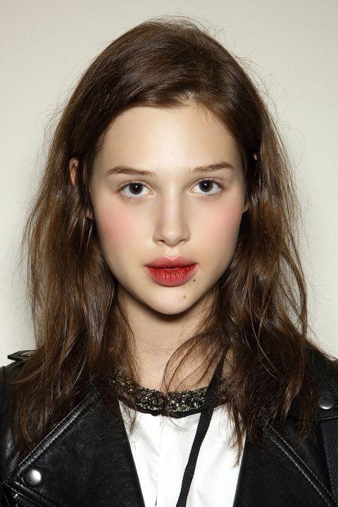 Clothing, Hair, Lip, Cheek, Mouth, Eye, Hairstyle, Chin, Forehead, Jacket,