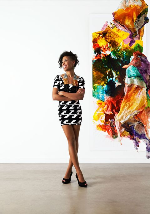 Sleeve, Style, Street fashion, Fashion, Pattern, Electric blue, Knee, Waist, Day dress, Visual arts,