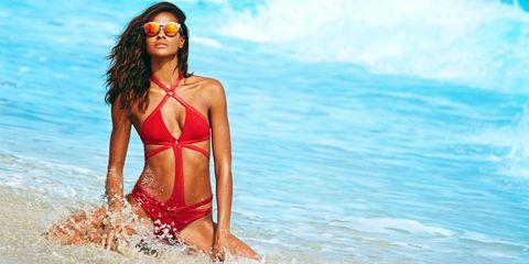Clothing, Body of water, Fun, Brassiere, Swimwear, Swimsuit top, Beach, Summer, People in nature, Bikini,