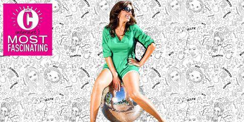 Leg, Style, Knee, Logo, Thigh, Goggles, Fashion model, Long hair, Graphics, Poster,