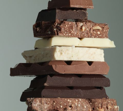 Chocolate in a stack