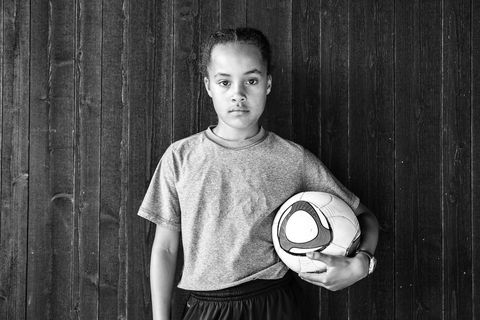 Ball, Soccer ball, Standing, Ball, Football, Style, Monochrome, Monochrome photography, Black-and-white, Flash photography,