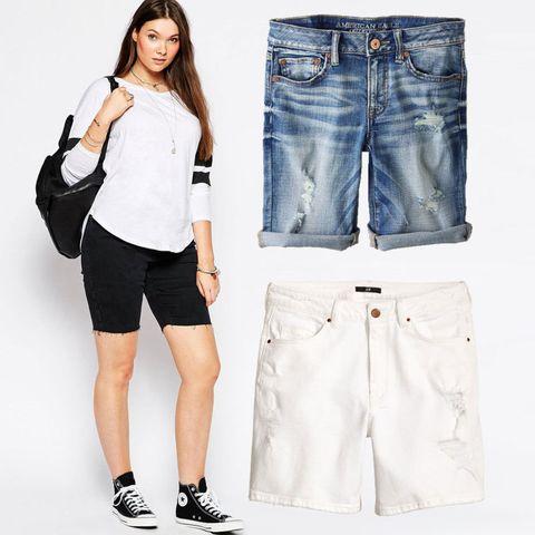 Black Denim Cutoffs Asos Curve 45 Distressed Jean Shorts American Eagle Outfitters 45 White Denim Shorts Hm