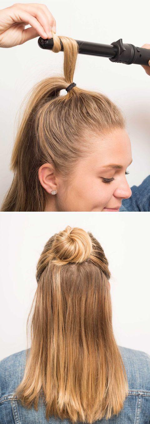 16 Half Bun Hairstyles For 2021 How To Do A Half Bun Tutorial