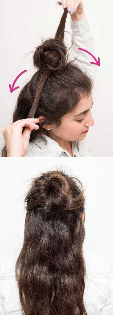 16 Half Bun Hairstyles For 2021 How To Do A Half Bun Tutorial