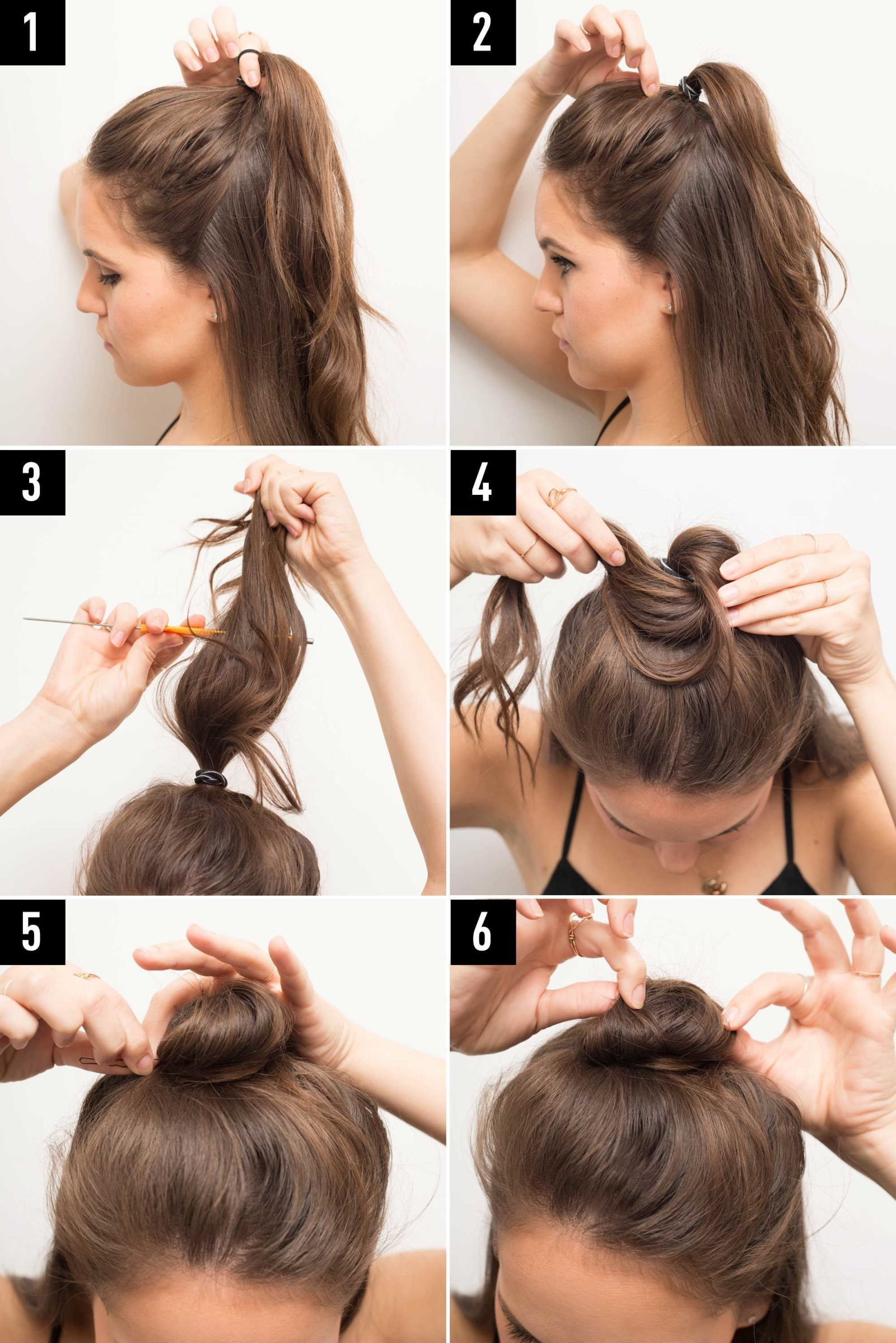 How to make your bun look big with short hair