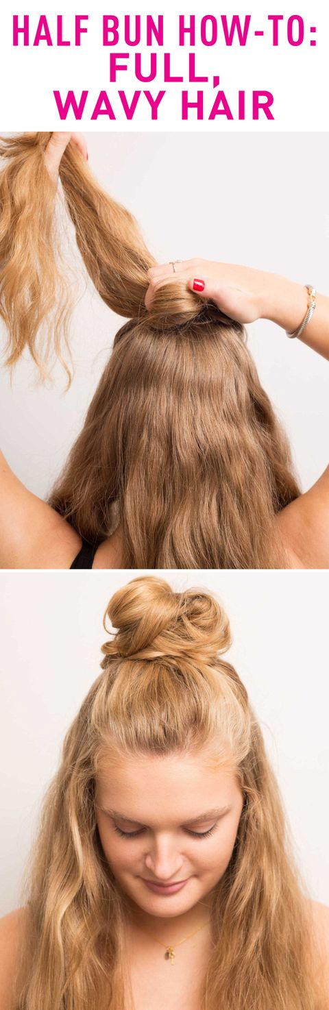 Half Bun Hairstyles How To Do A Half Bun Tutorials And Tips