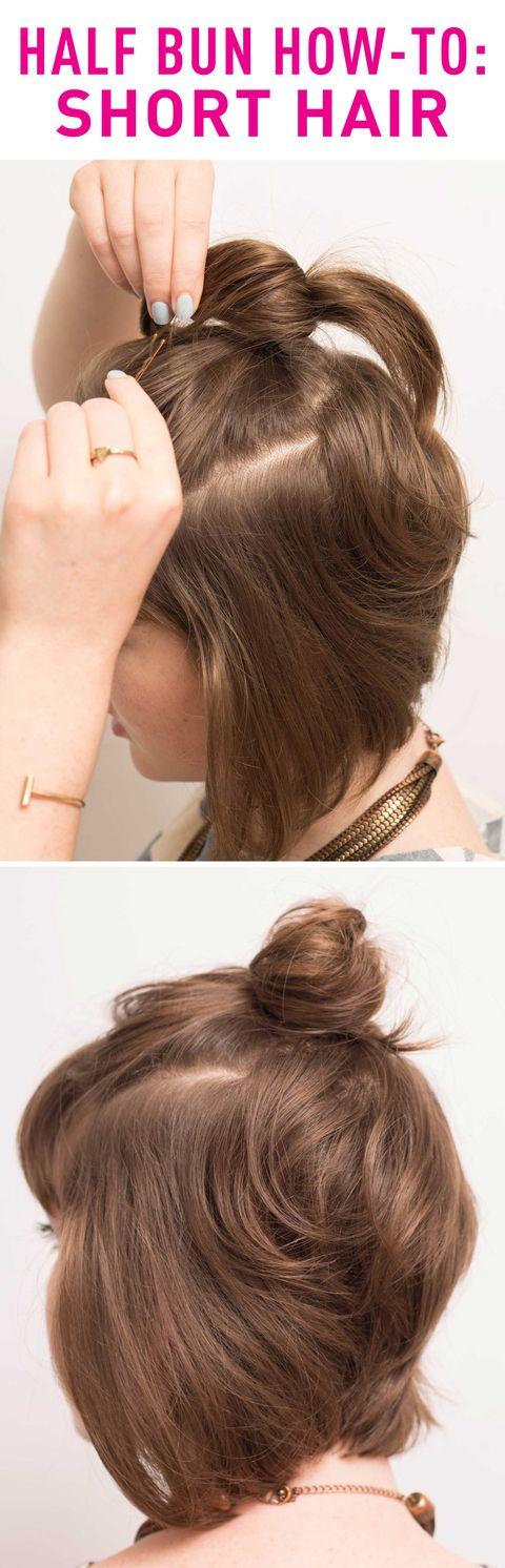 Half Bun Hairstyles How To Do A Half Bun Tutorials And Tips