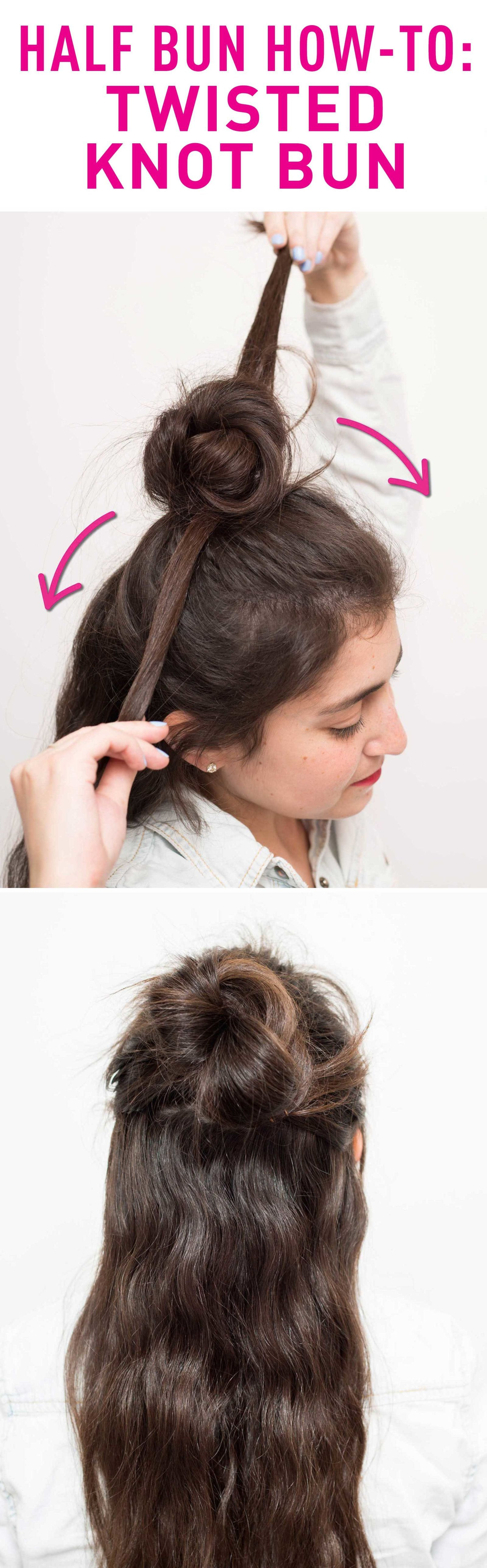 How to make two buns on top of head with short hair