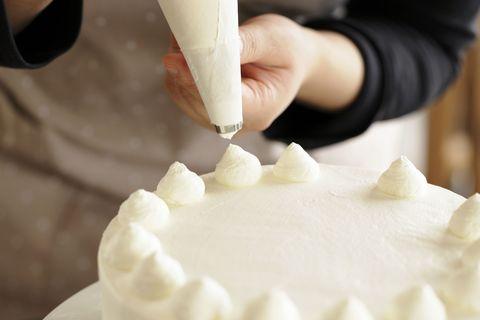 Cake, Food, Ingredient, Dessert, Cuisine, Sweetness, Baked goods, Cake decorating, Dairy, Whipped cream,