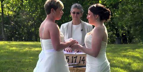 Clothing, Ear, Dress, Shoulder, Photograph, Bridal clothing, Wedding dress, Happy, Bride, Formal wear,