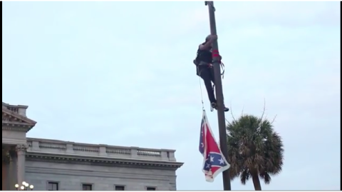 Brave Woman Removes Confederate Flag From South Carolina Capitol