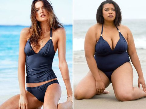 603234b739a69 Here's What 6 Non-Models Look Like in Victoria's Secret Swimsuits
