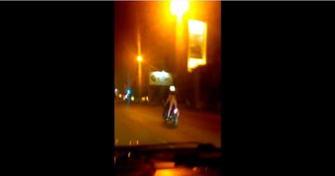 Night, Amber, Light, Midnight, Lens flare, Heat, Motorcycle, Backlighting, Scooter, Motorcycling,