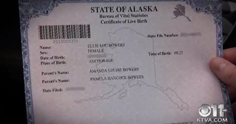birth certificate alaska Alaska Just Issued the First Ever Birth Certificate to a Same-Sex Couple