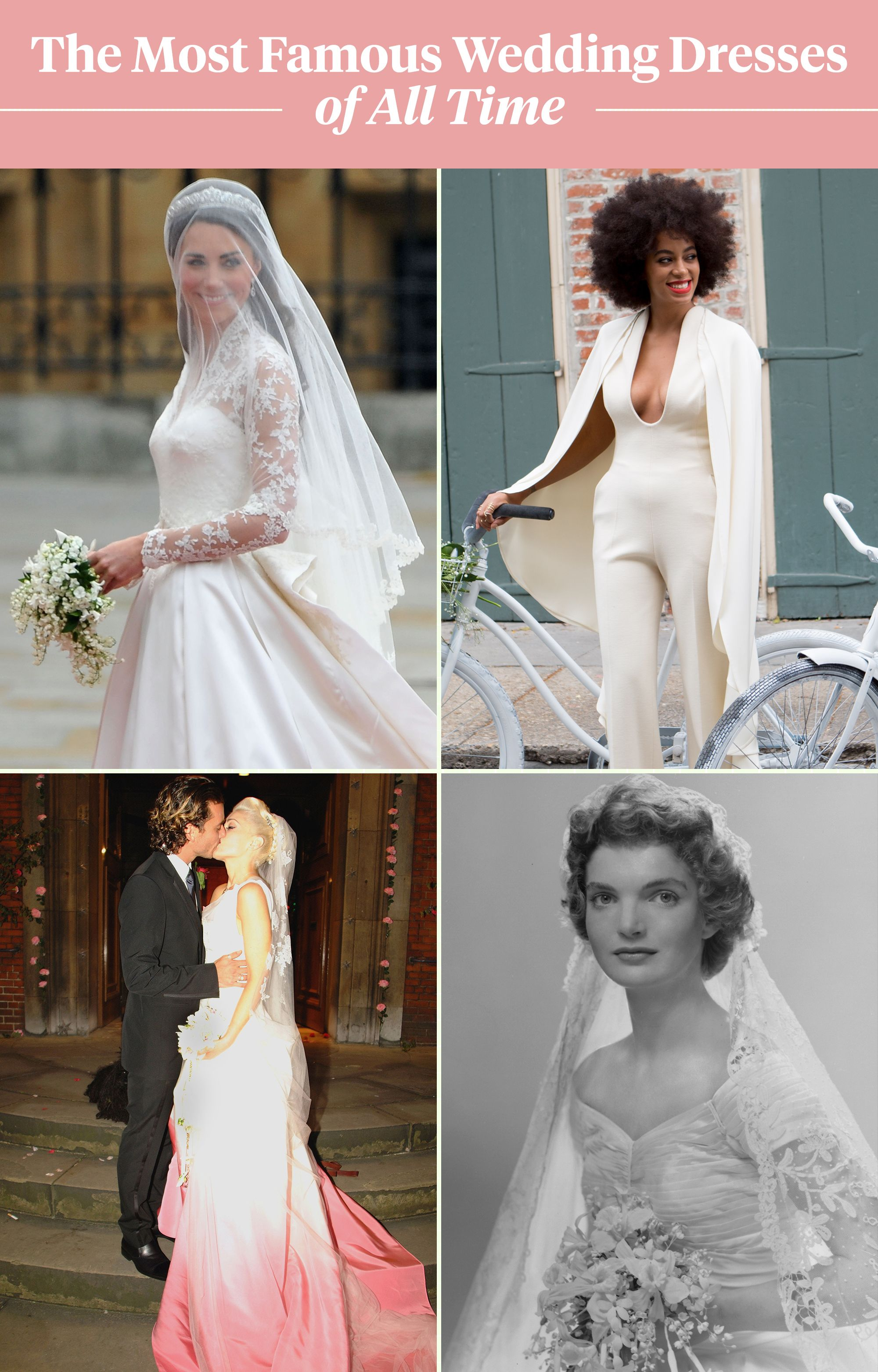 See The 100 Most Famous Wedding Of All Time In 1 Glorious Chart