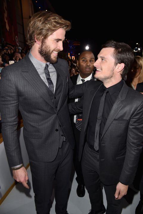 Liam Hemsworth On The Epic Kiss With Josh Hutcherson In Mockingjay