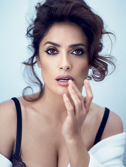 Stunning Salma Hayek Talks Beauty And Poses Topless For