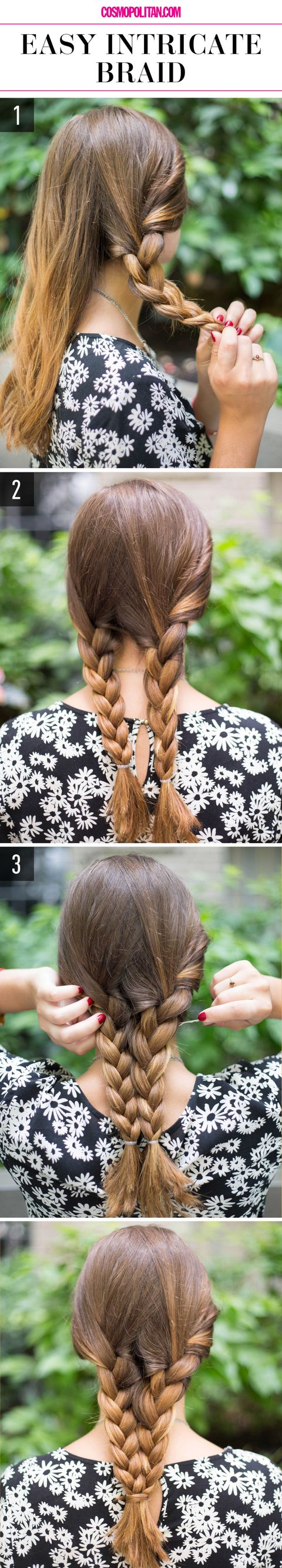 15 Super Easy Hairstyles For 2018 Three Step Hairstyles For Girls