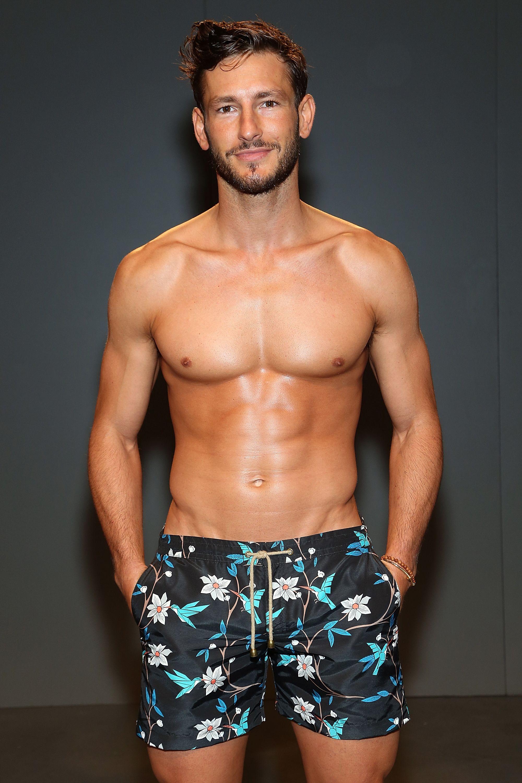 Shirtless male model