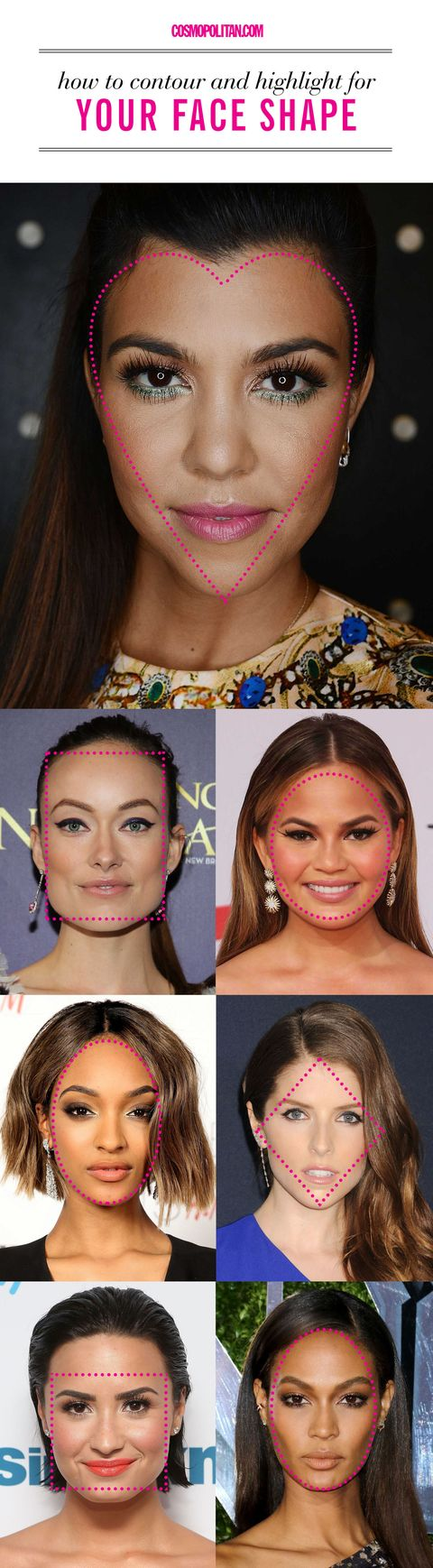 How to Contour for Your Face Shape - Best Way to Use Contouring ...