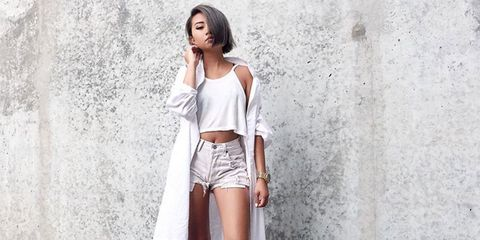 Sleeve, Skin, Shoulder, Style, Waist, Denim, Fashion, Beauty, Thigh, Fashion model,
