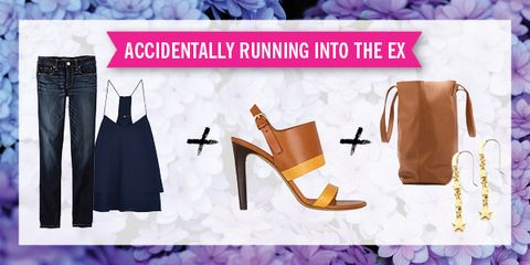 <p>You might as well look hot for it. A breezy boho look — short cami, heeled sandals — makes you appear calm, cool, and in control, even if you're screaming on the inside.</p>