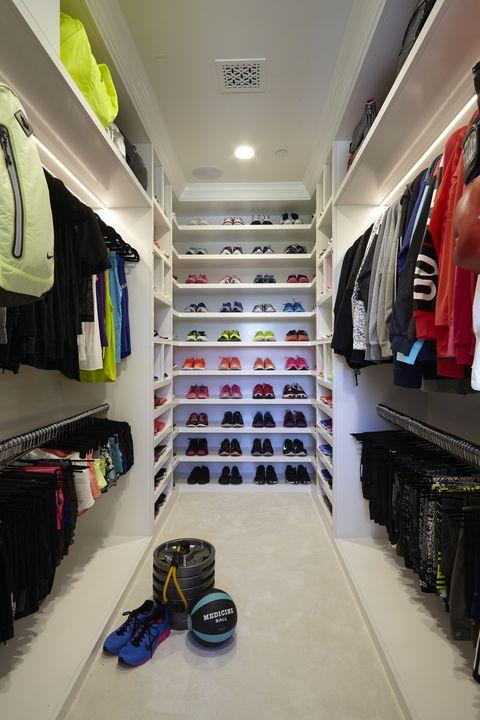 Khloe Kardashian Has A Huge Walk In Closet Devoted To Workout