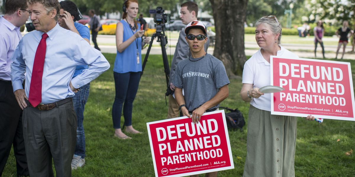 defunding planned parenthood is the opposite of pro life