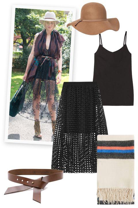 Brown, Hat, Textile, Dress, Sun hat, Headgear, Fashion, Boot, Pattern, Costume accessory,