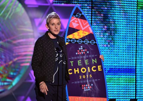 """Ellen DeGeneres's Powerful Speech at the Teen Choice Awards: """"Be Proud of Being Different"""""""