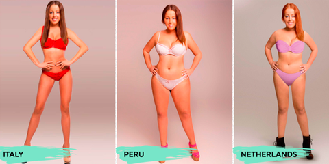 """How 1 Woman's Body Was Photoshopped to Meet 18 Different """"Ideal"""" Beauty Standards"""