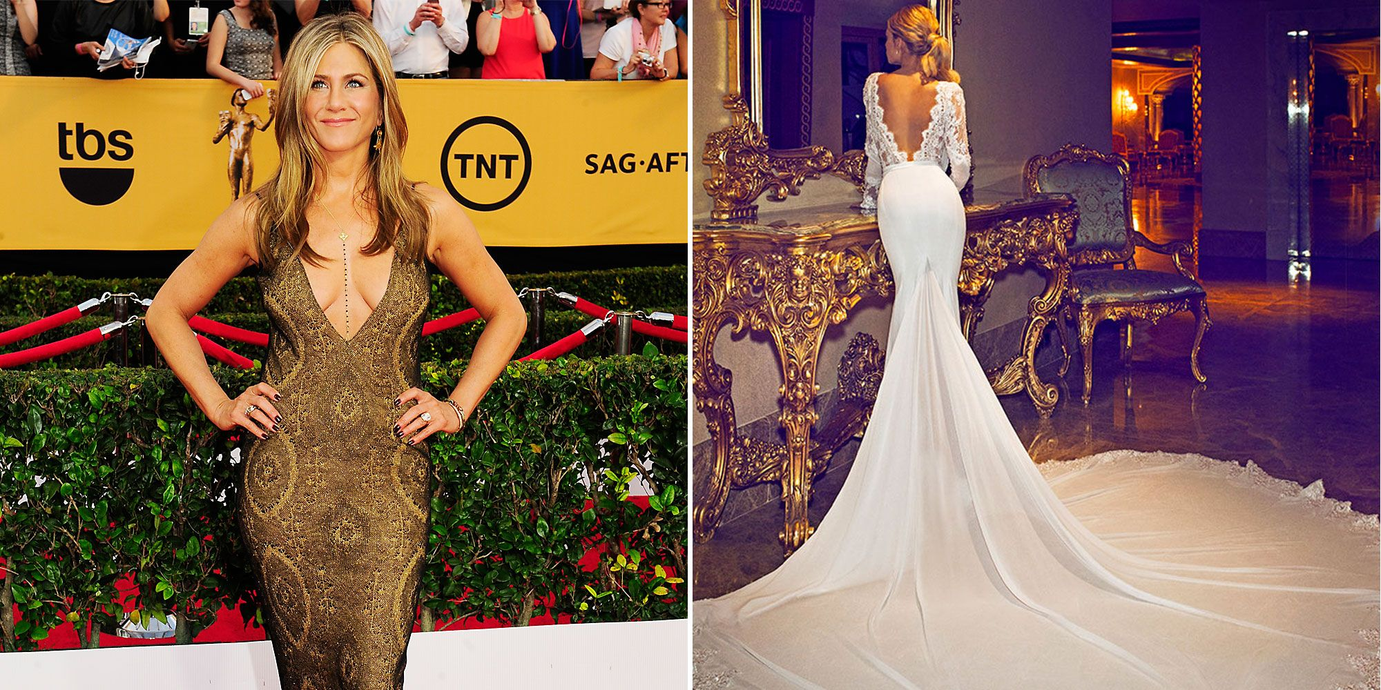 Jennifer Aniston\'s Viral Wedding Dress Designer Wants to Make Her a ...