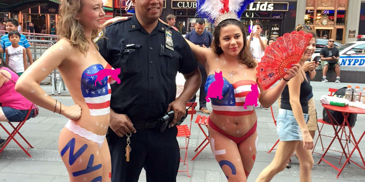 NYC searches for ways to ban Times Square topless ladies