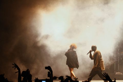 Rihanna Surprises Audience at Kanye West's Concert and Crowd Literally Loses It