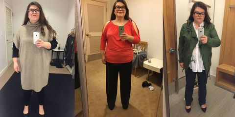 9b1cfb6a467 Size 16 Woman Asks 5 Stylists to Dress Her in