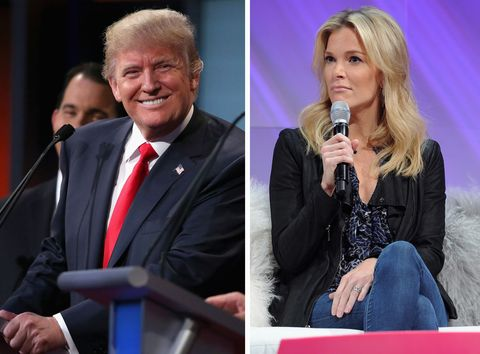 Donald Trump/Megyn Kelly composite