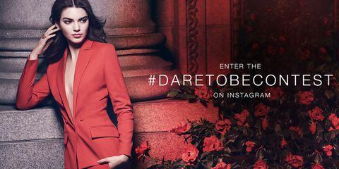 Collar, Red, Coat, Formal wear, Blazer, Pantsuit, Eyelash, Bird, Long hair, Fashion model,