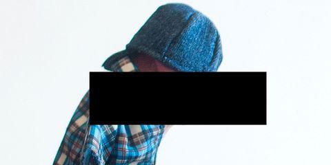 Blue, Sleeve, Textile, Plaid, Pattern, Tartan, Headgear, Electric blue, Costume accessory, Azure,