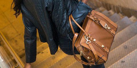 Brown, Textile, Bag, Pocket, Tan, Leather, Beige, Luggage and bags, Shoulder bag, Elephant,