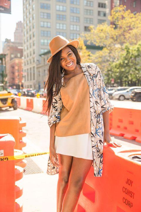 Sleeve, Hat, Bag, Orange, Style, Coat, Street fashion, Fashion accessory, Sun hat, Headgear,