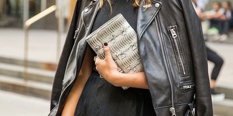 Textile, Denim, Street fashion, Jacket, Bag, Leather, Fashion, Pocket, Leather jacket, Fashion design,