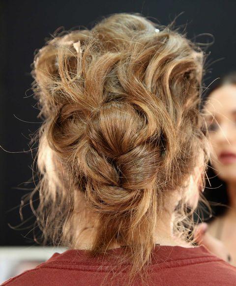 Hair, Hairstyle, Style, Blond, Brown hair, Hair coloring, Fashion, Long hair, Hair care, Bun,