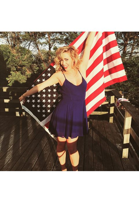Flag, Dress, Flag of the united states, Pattern, Holiday, Street fashion, Flag Day (USA), Day dress, Boot, Independence day,