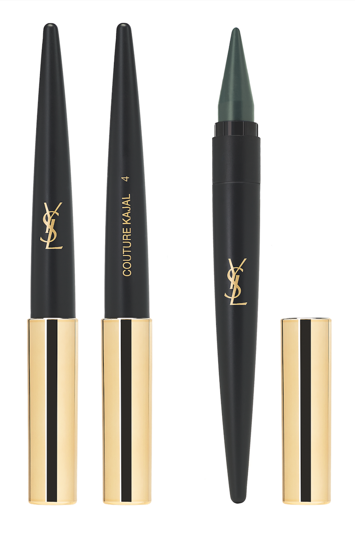 "<p>Simply twist up the tip on this creamy, ultra-pigmented 3-in-1 kohl crayon — choose from ""Noir Ardent"" (black), ""Bleu Cobalt"" (navy), ""Bleu Petrole"" (vibrant blue), or ""Vert Anglais"" (hunter green) — to define your inner lash lines, create a super-fine flick along your upper lashes, or pull off a full-on smoky eye in seconds. </p><p> <em><a href=""http://www.yslbeautyus.com/couture-kajal-eye-pencil/18925YSL.html?cgid=fall-look-2015&dwvar_18925YSL_color=Noir%20Ardent#lid=1&lcat=fall-look-2015&start=3&cgid=fall-look-2015"" target=""_blank"">Yves Saint Laurent Couture Kajal Eye Pencil</a>, YVES SAINT LAURENT (Available at YSL </em><em>Beauty</em><em>), $35</em></p>"