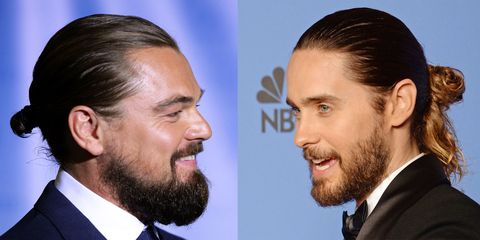 Leonardo DiCaprio, Jared Leto man buns