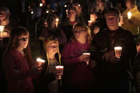 Roseburg candelight vigil.
